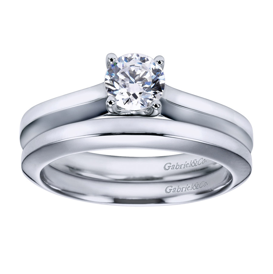 Gabriel Platinum Contemporary Engagement Ring ER6609PTJJJ Alternative View 3