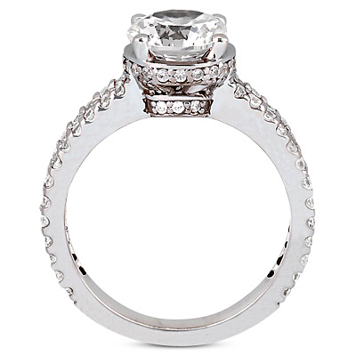 Taryn Collection Platinum Diamond Engagement Ring TQD 4278 Alternative View 1