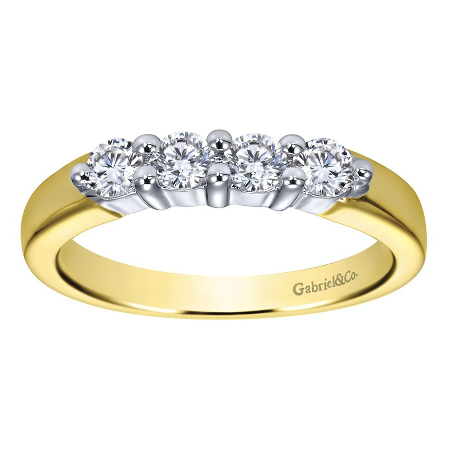 Gabriel 14 Karat Contemporary Wedding Band WB2789M43JJ Alternative View 4