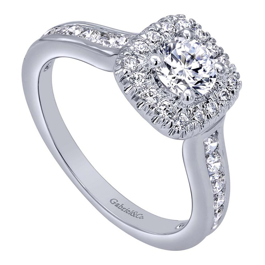 Gabriel 14 Karat Contemporary Engagement Ring ER910136W44JJ Alternative View 2