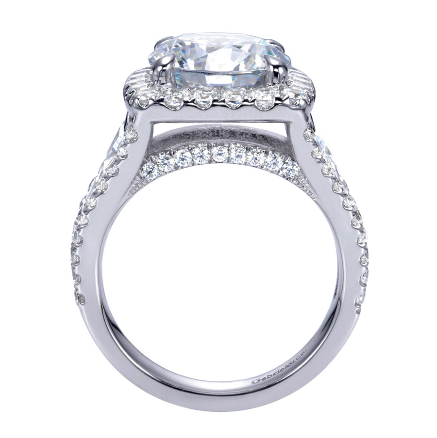 Gabriel 18 Karat Contemporary Engagement Ring ER11282W83JJ Alternative View 1