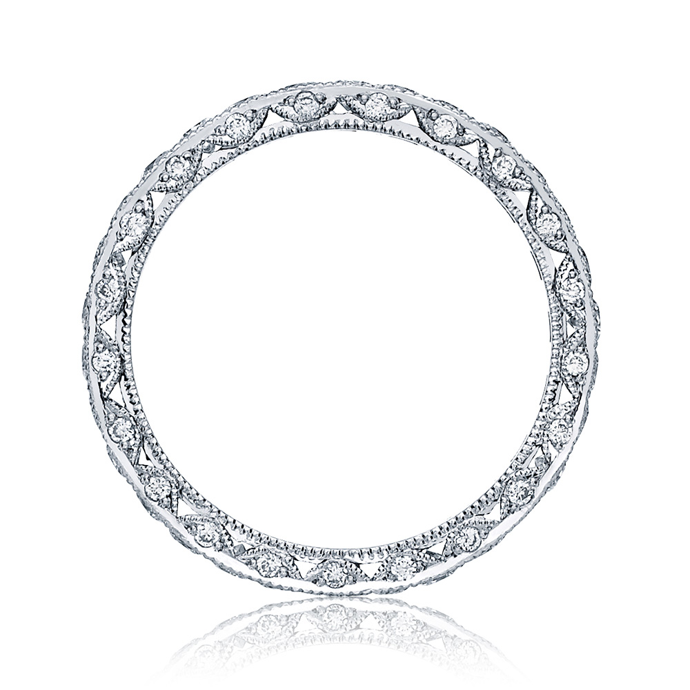 HT2607B Platinum Tacori RoyalT Diamond Wedding Ring Alternative View 1