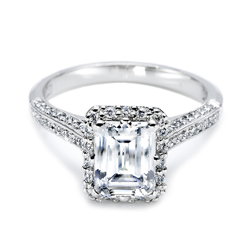 Tacori Platinum Solitaire Engagement Ring 2502EMP8X6