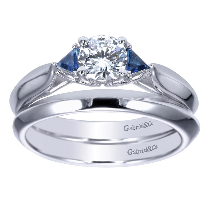 Gabriel 14 Karat Contemporary Engagement Ring ER98685W44SA Alternative View 3