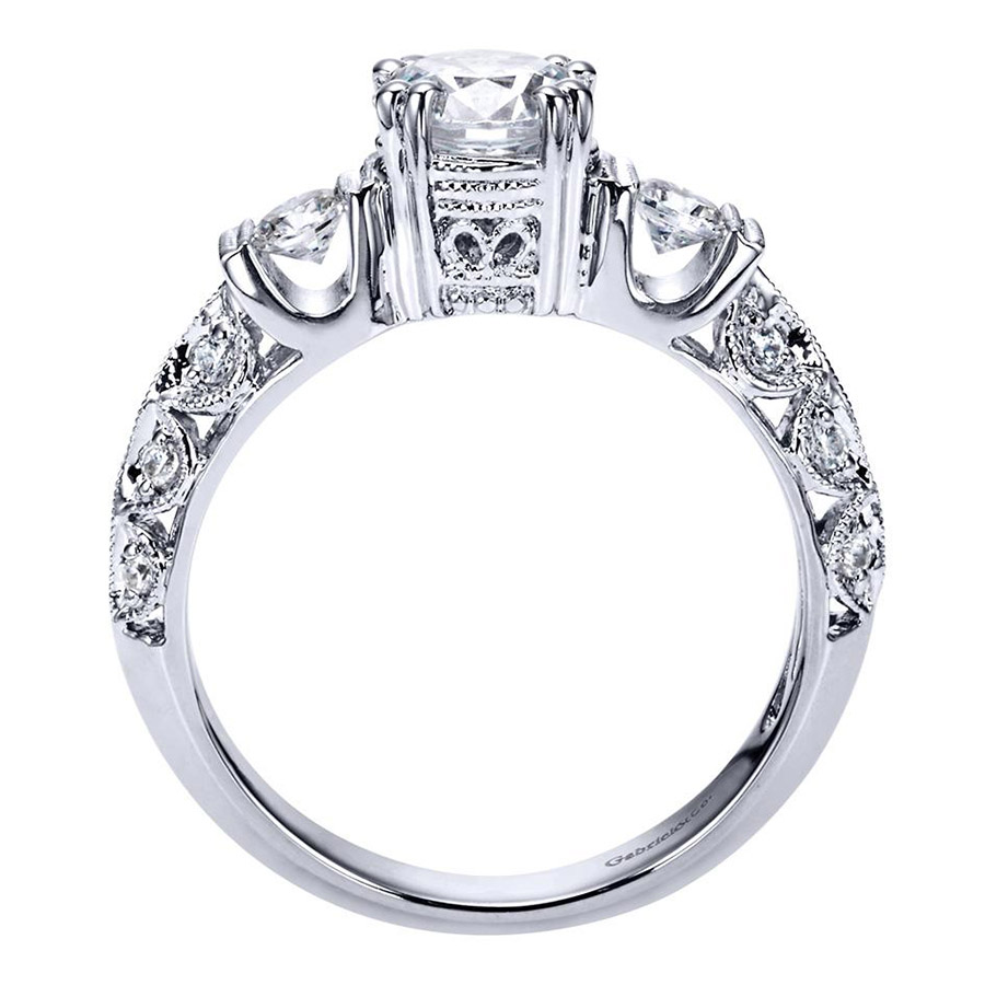 Gabriel 14 Karat Victorian Engagement Ring Er3844w44jj Alternative View  1