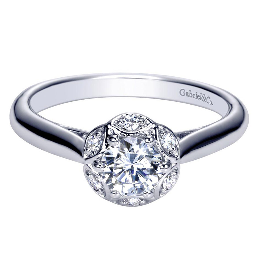 Gabriel 14 Karat Contemporary Engagement Ring ER98585W44JJ