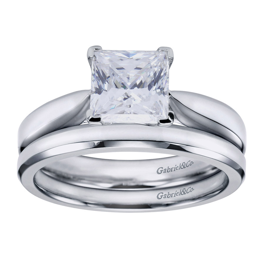Gabriel Platinum Contemporary Engagement Ring ER6597PTJJJ Alternative View 3