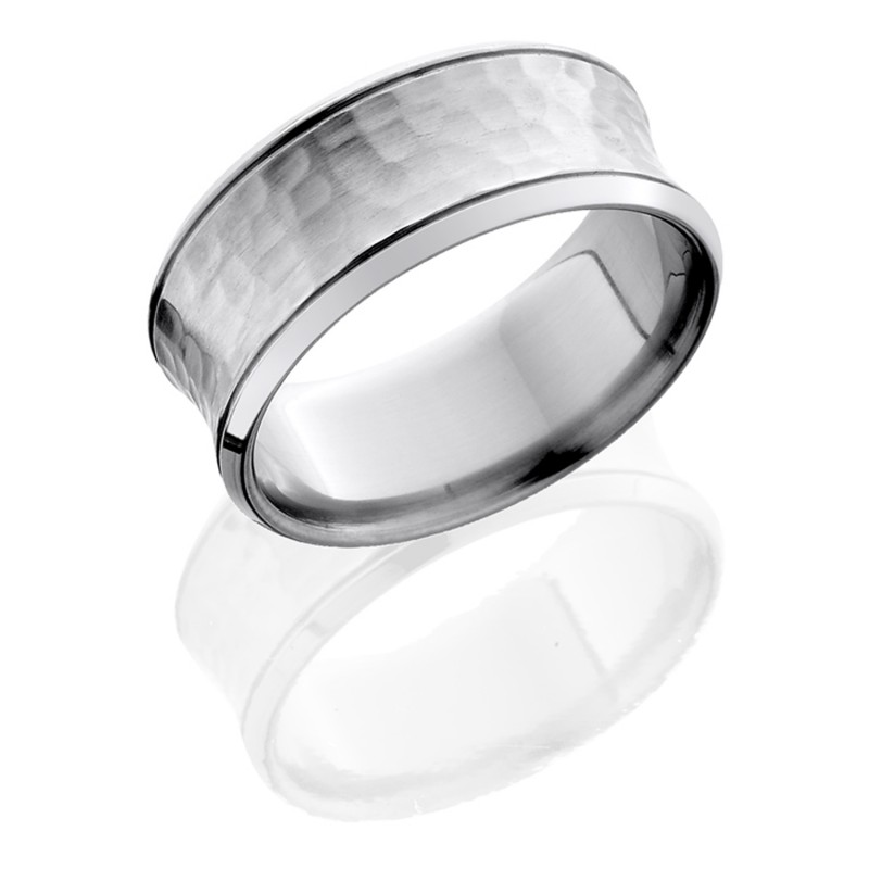 Lashbrook 10BCCG HAMMER-POLISH Titanium Wedding Ring or Band