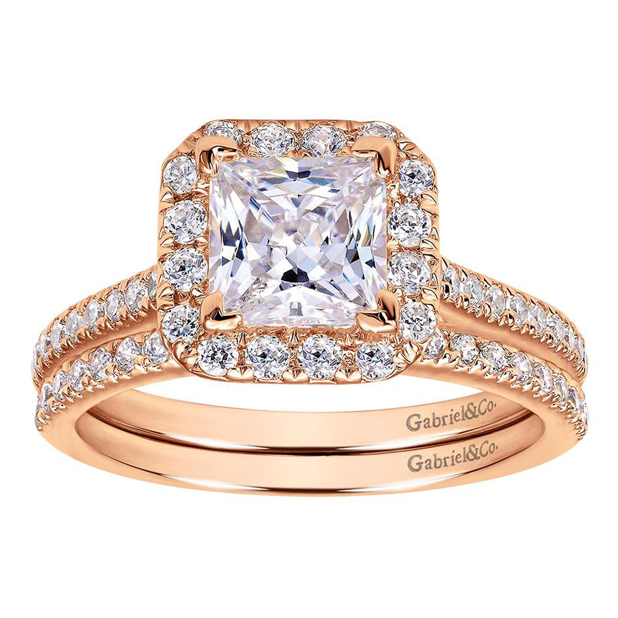 Gabriel 14 Karat Contemporary Engagement Ring ER7266K44JJ Alternative View 3