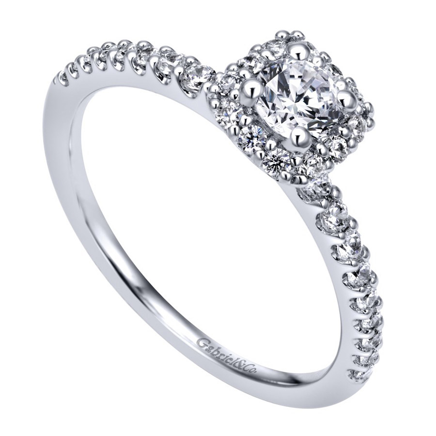 Gabriel 14 Karat Contemporary Engagement Ring ER911727R1W44JJ Alternative View 2
