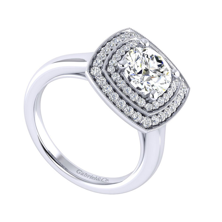 Gabriel 14 Karat Perfect Match Engagement Ring ER009C6AGW44JJ Alternative View 2
