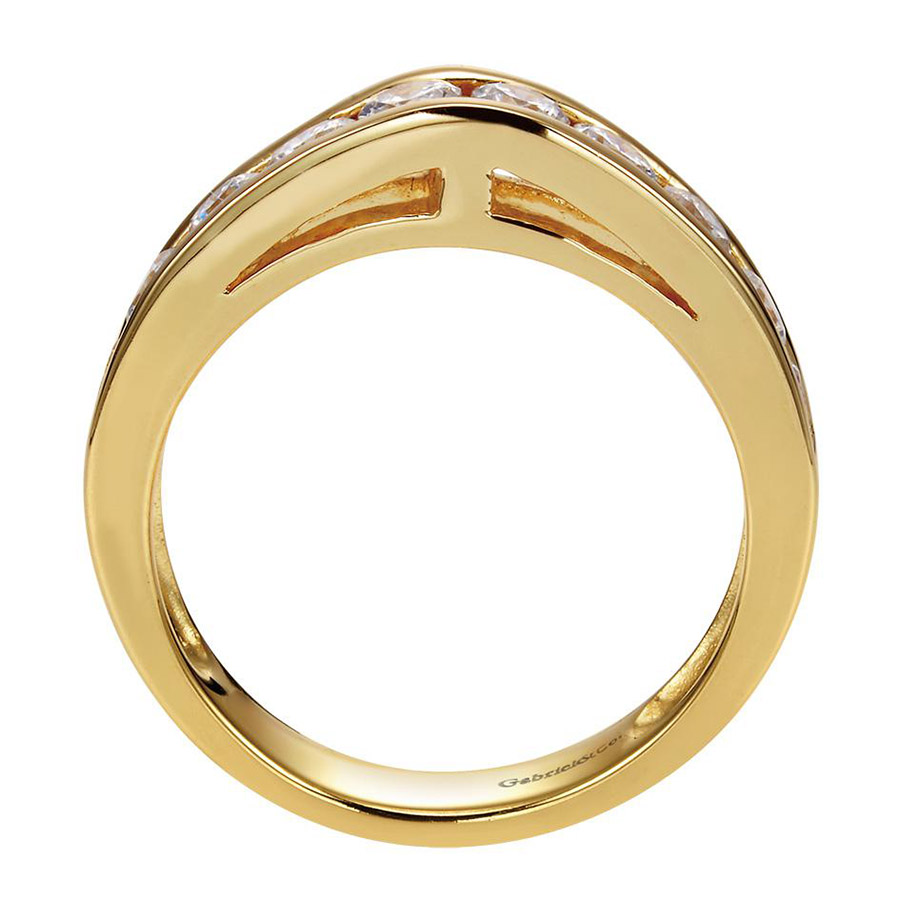 Gabriel 14 Karat Contemporary Wedding Band WB1707Y44JJ Alternative View 1