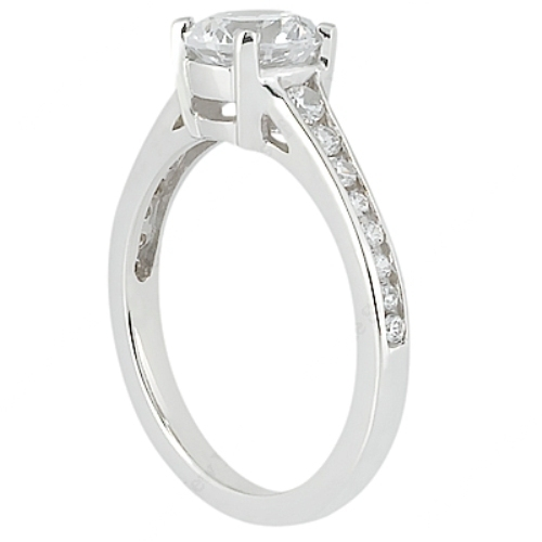 Taryn Collection Platinum Diamond Engagement Ring TQD 8388 Alternative View 2