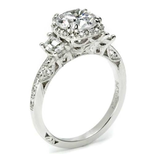 Tacori Dantela 18 Karat Engagement Ring 2628RDP Alternative View 1