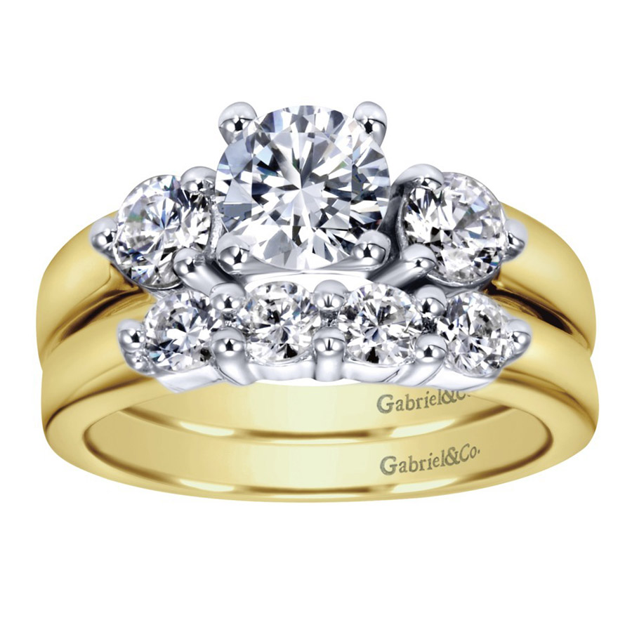 Gabriel 14 Karat Contemporary Wedding Band WB2790M43JJ Alternative View 3