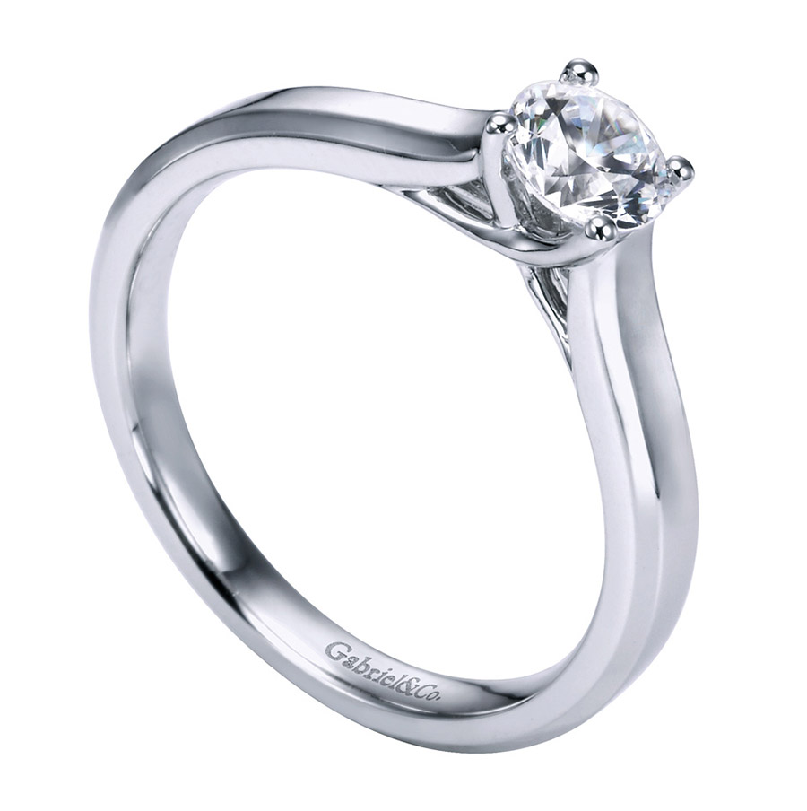 Gabriel Platinum Contemporary Engagement Ring ER6579PTJJJ Alternative View 2