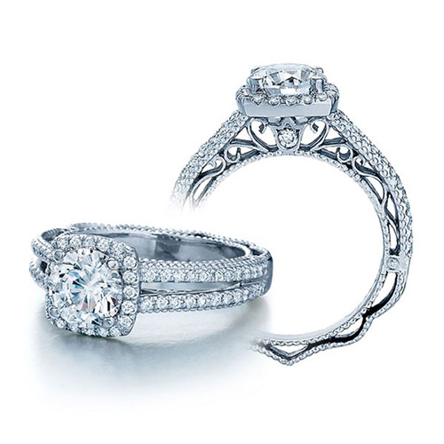 Verragio Venetian-5007CU Platinum Engagement Ring