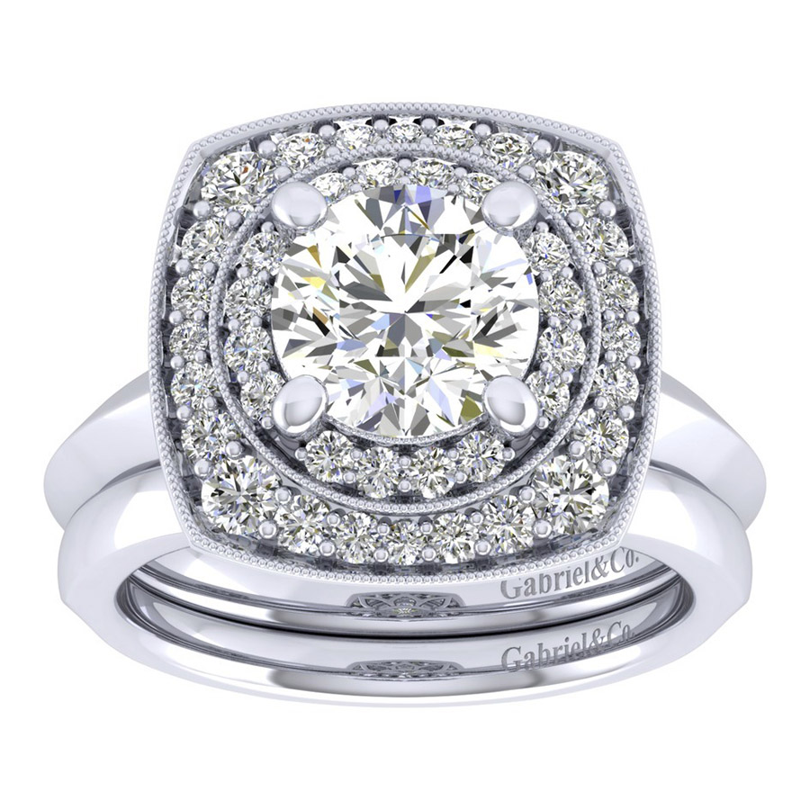Gabriel 14 Karat Perfect Match Engagement Ring ER001C8AFW44JJ Alternative View 3