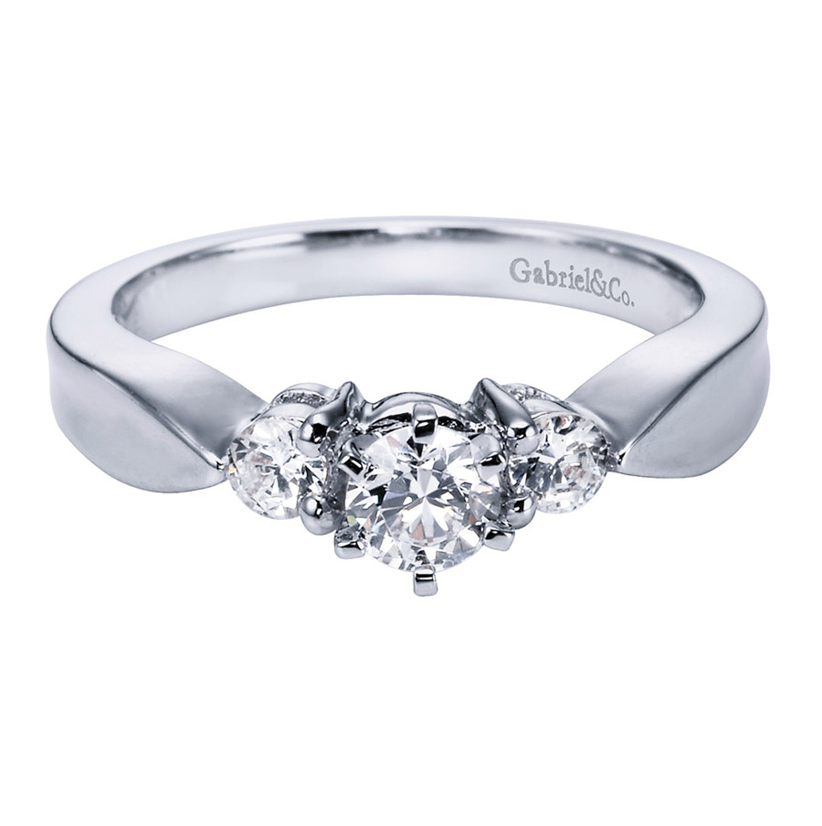 Gabriel 14 Karat Contemporary Engagement Ring ER1705PT3JJ