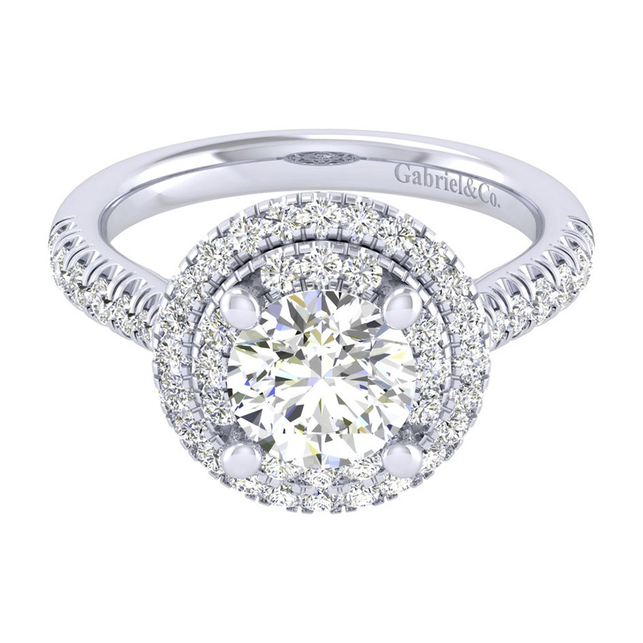 Gabriel 14 Karat Perfect Match Engagement Ring ER039C6AIW44JJ