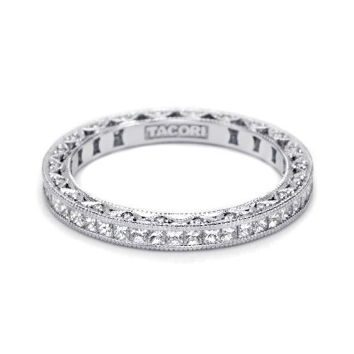 Tacori HT2430SMB Platinum Wedding Band Alternative View 2