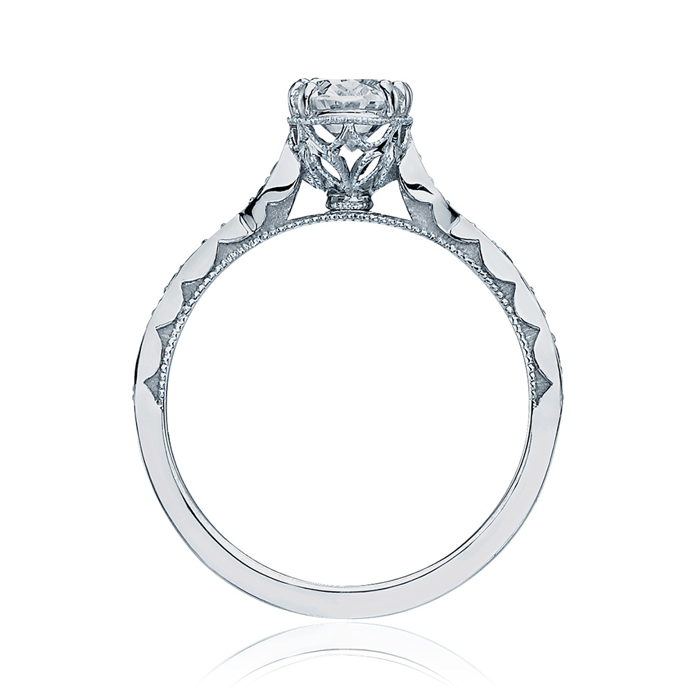 57-2OV75X55 Platinum Tacori Sculpted Crescent Engagement Ring Alternative View 1