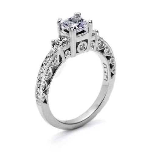 Tacori Crescent Platinum Engagement Ring HT2258 Alternative View 1
