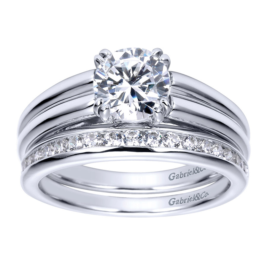 Gabriel Platinum Contemporary Engagement Ring ER8136PTJJJ Alternative View 3