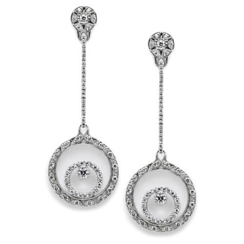 tacori diamond earrings platinum fine jewelry fe588 tq