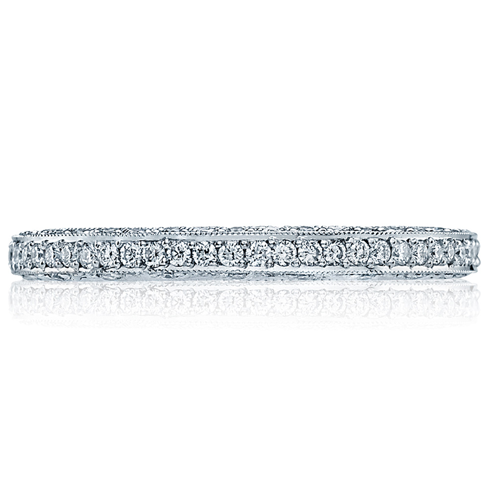 HT2257D Platinum Tacori Classic Crescent Diamond Wedding Ring