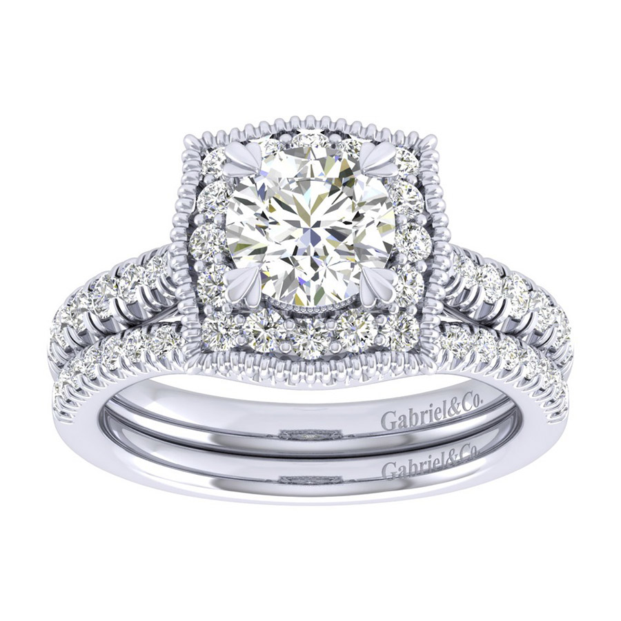 Gabriel 14 Karat Perfect Match Engagement Ring ER039B4AAW44JJ Alternative View 3