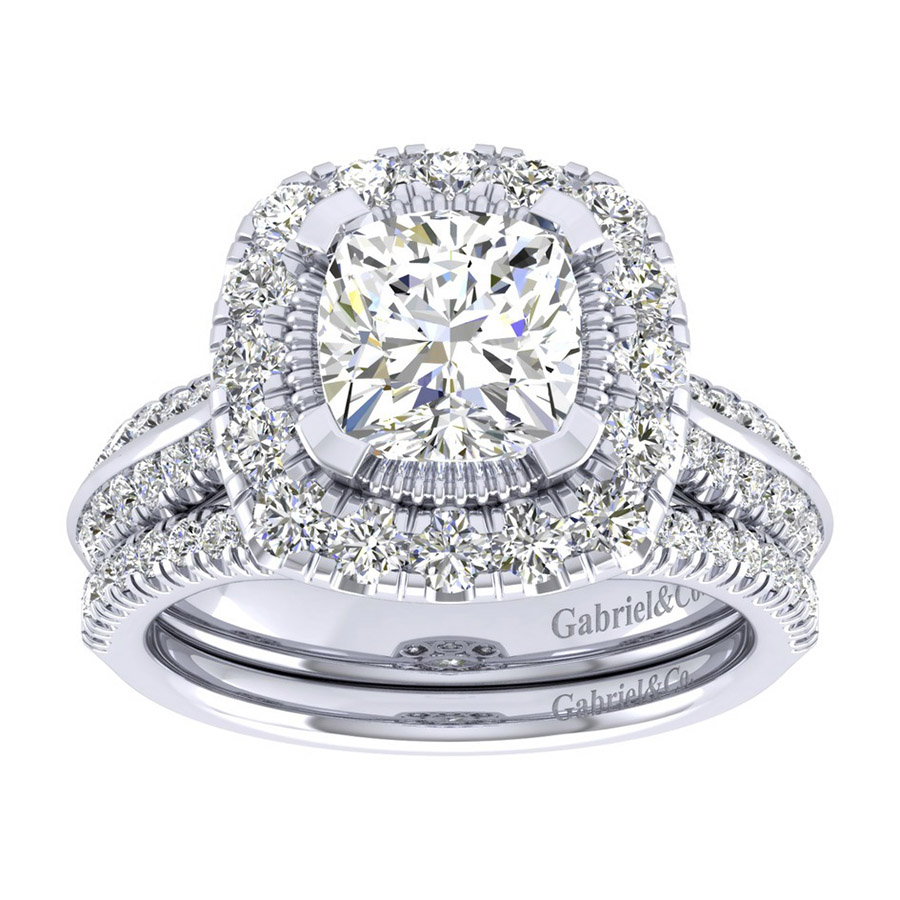 Gabriel 14 Karat Perfect Match Engagement Ring ER002C8AJW44JJ Alternative View 3