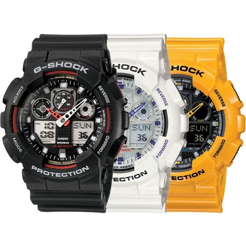 G-Shock Classic Watch by Casio GA100A-7A Alternative View 1