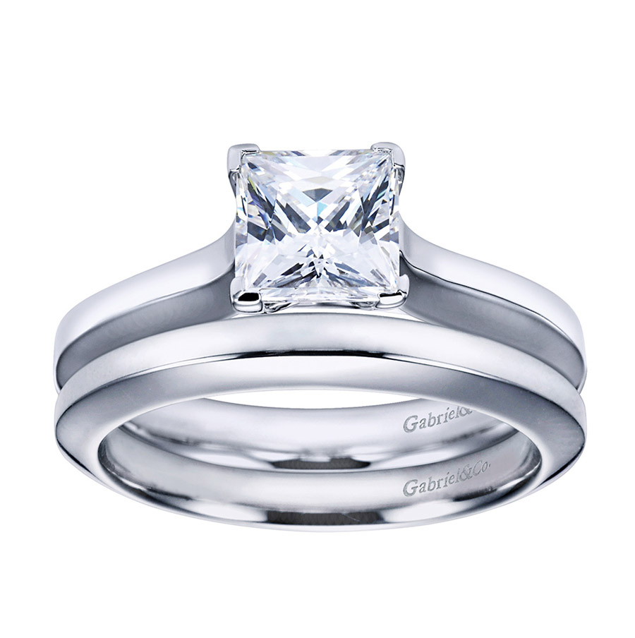Gabriel Platinum Contemporary Engagement Ring ER6616PTJJJ Alternative View 3