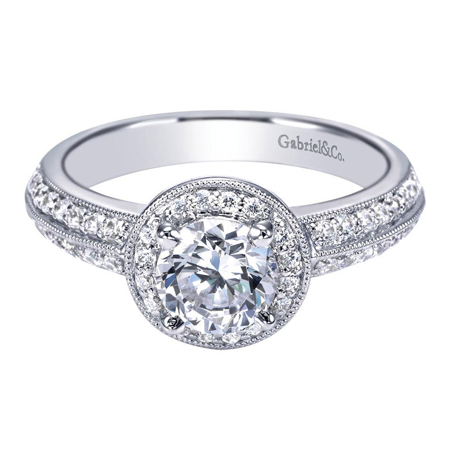 Gabriel 14 Karat Contemporary Engagement Ring ER3914PT3JJ