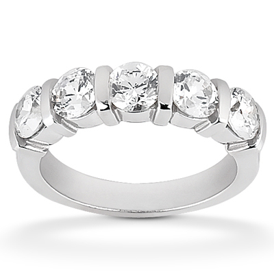 Diamond Five Stone Band Palladium Taryn Collection TQD B-003-5