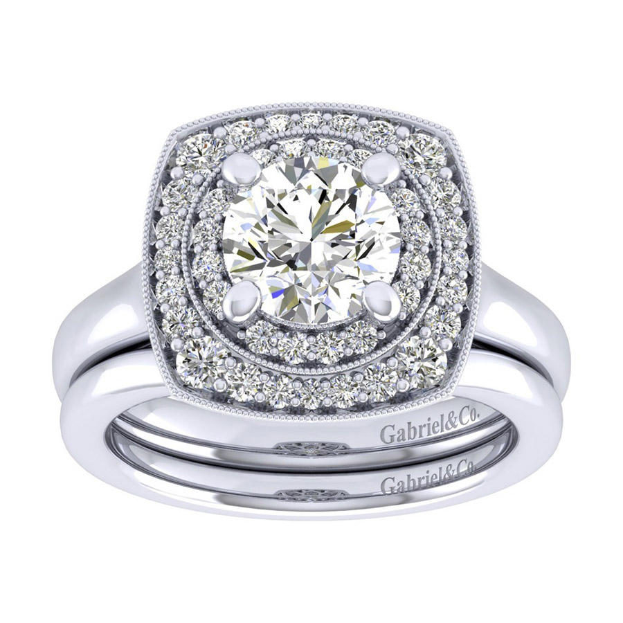 Gabriel 14 Karat Perfect Match Engagement Ring ER009C6AFW44JJ Alternative View 3
