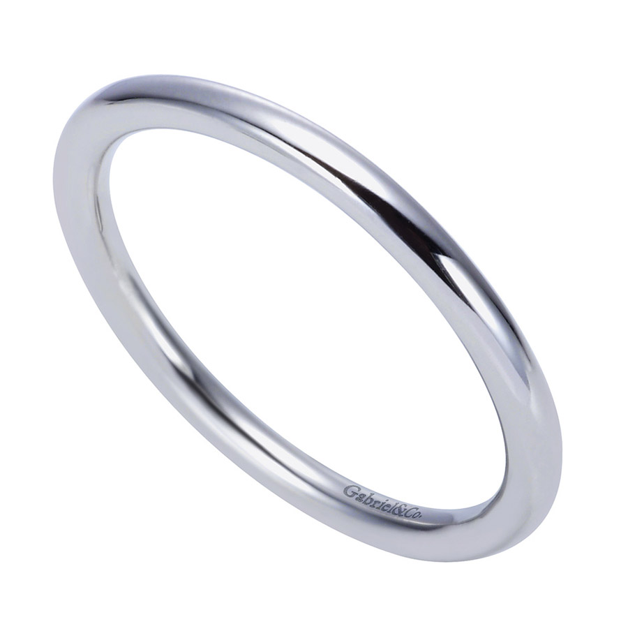 Gabriel Platinum Contemporary Wedding Band WB8289PTJJJ Alternative View 2