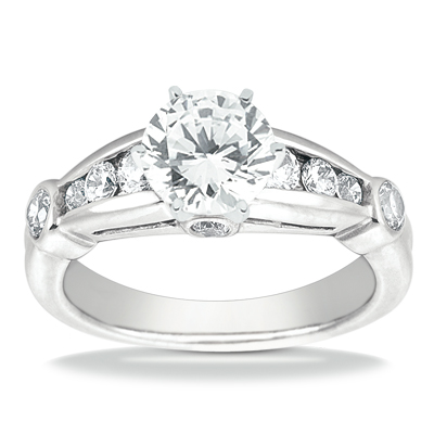 Taryn Collection 14 Karat Diamond Engagement Ring TQD A-917 Alternative View 1