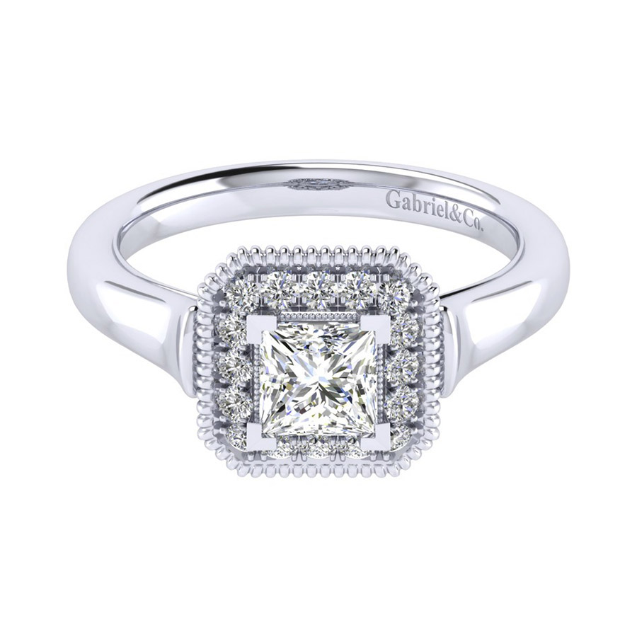 Gabriel 14 Karat Perfect Match Engagement Ring ER009B3ALW44JJ