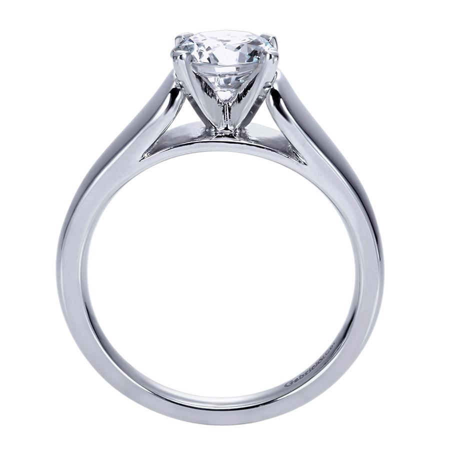 Gabriel Platinum Contemporary Engagement Ring ER8138PTJJJ Alternative View 1