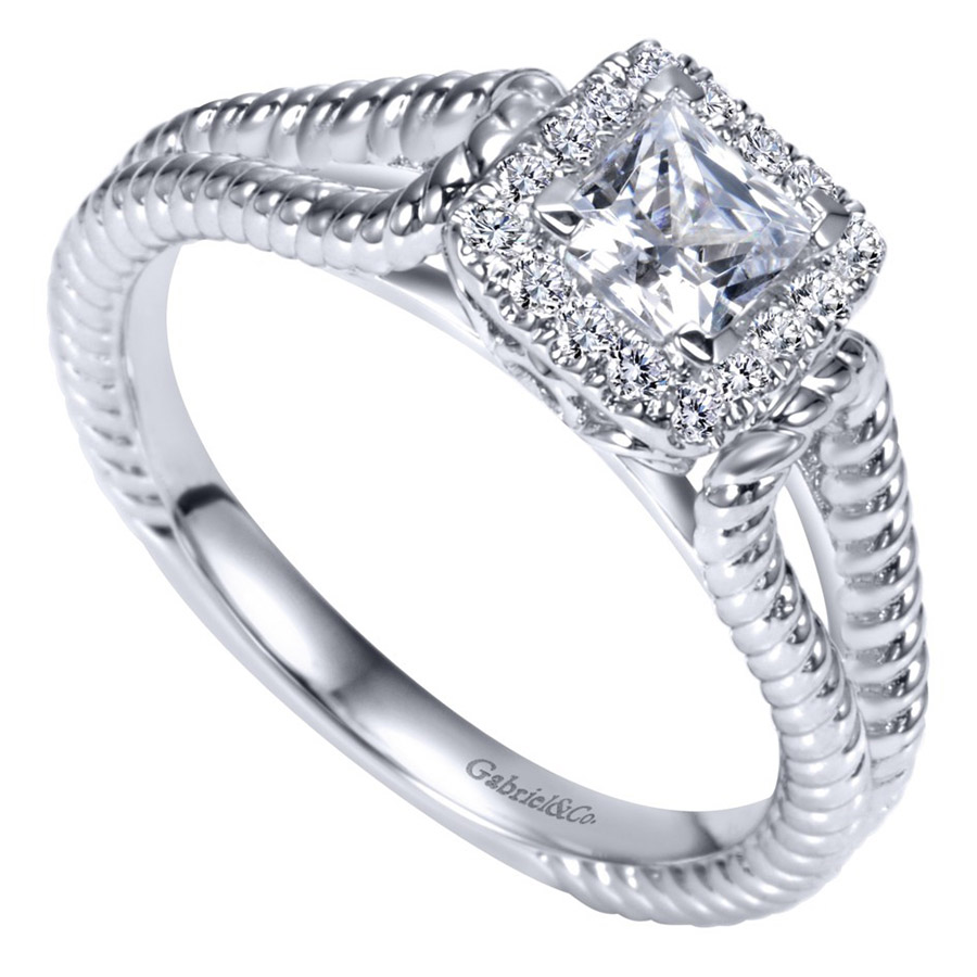 Gabriel 14 Karat Contemporary Engagement Ring ER98562W44JJ Alternative View 2