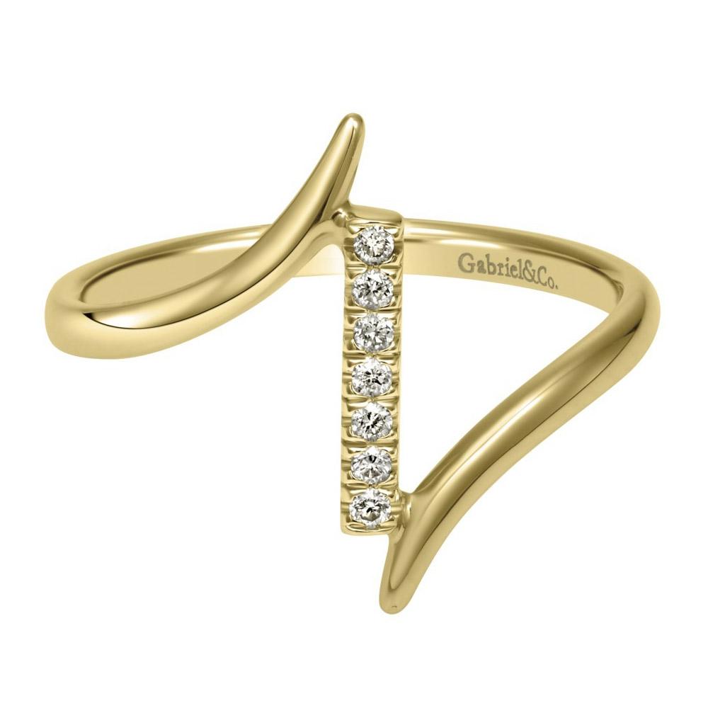 Gabriel Fashion 14 Karat Trends Knuckle Ladies' Ring ...