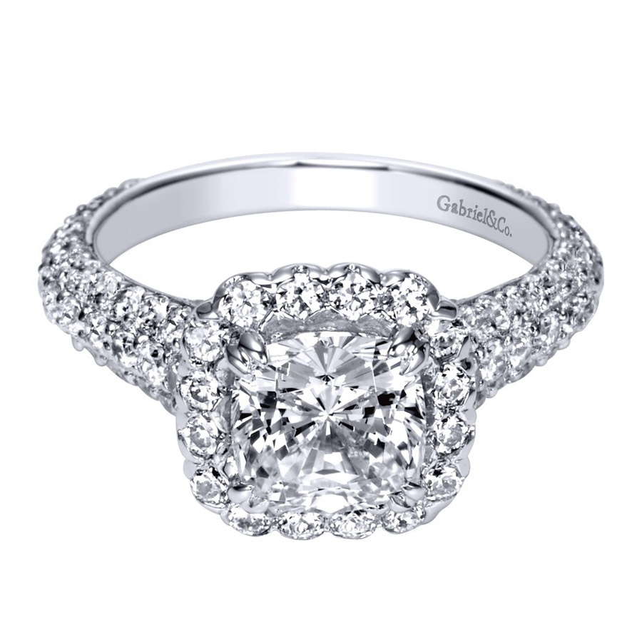 Gabriel 18 Karat Contemporary Engagement Ring ER8304C6W83JJ