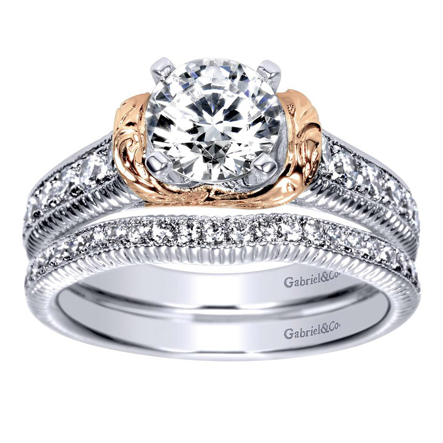Gabriel 14 Karat Contemporary Engagement Ring ER9238T44JJ Alternative View 3