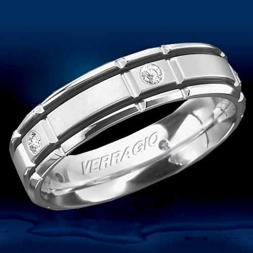 Verragio Palladium In-Gauge Diamond Wedding Band RUD-6964 Alternative View 1