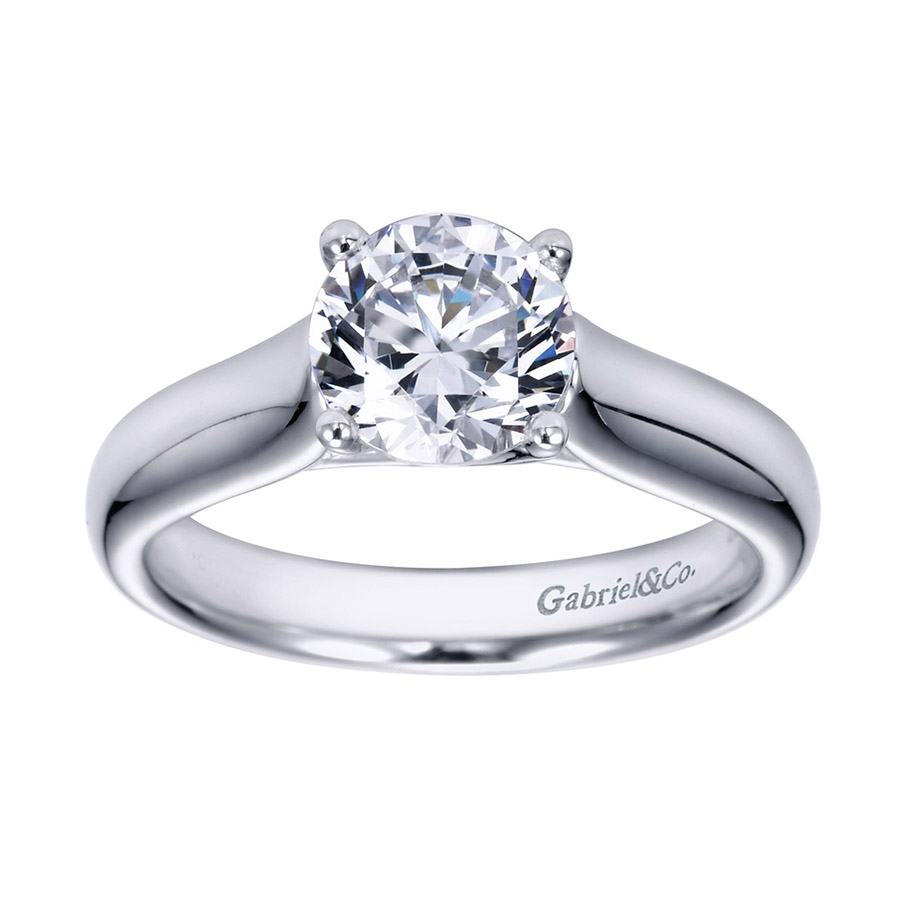 Gabriel Platinum Contemporary Engagement Ring ER6602PTJJJ Alternative View 4