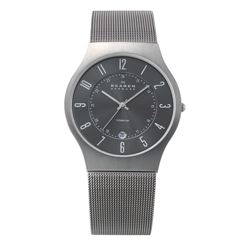 Skagen Watch - 233XLTTM - Grenen Steel Mesh and Titanium Case