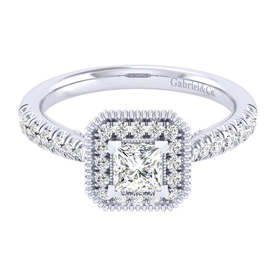 Gabriel 14 Karat Perfect Match Engagement Ring ER039A2ALW44JJ