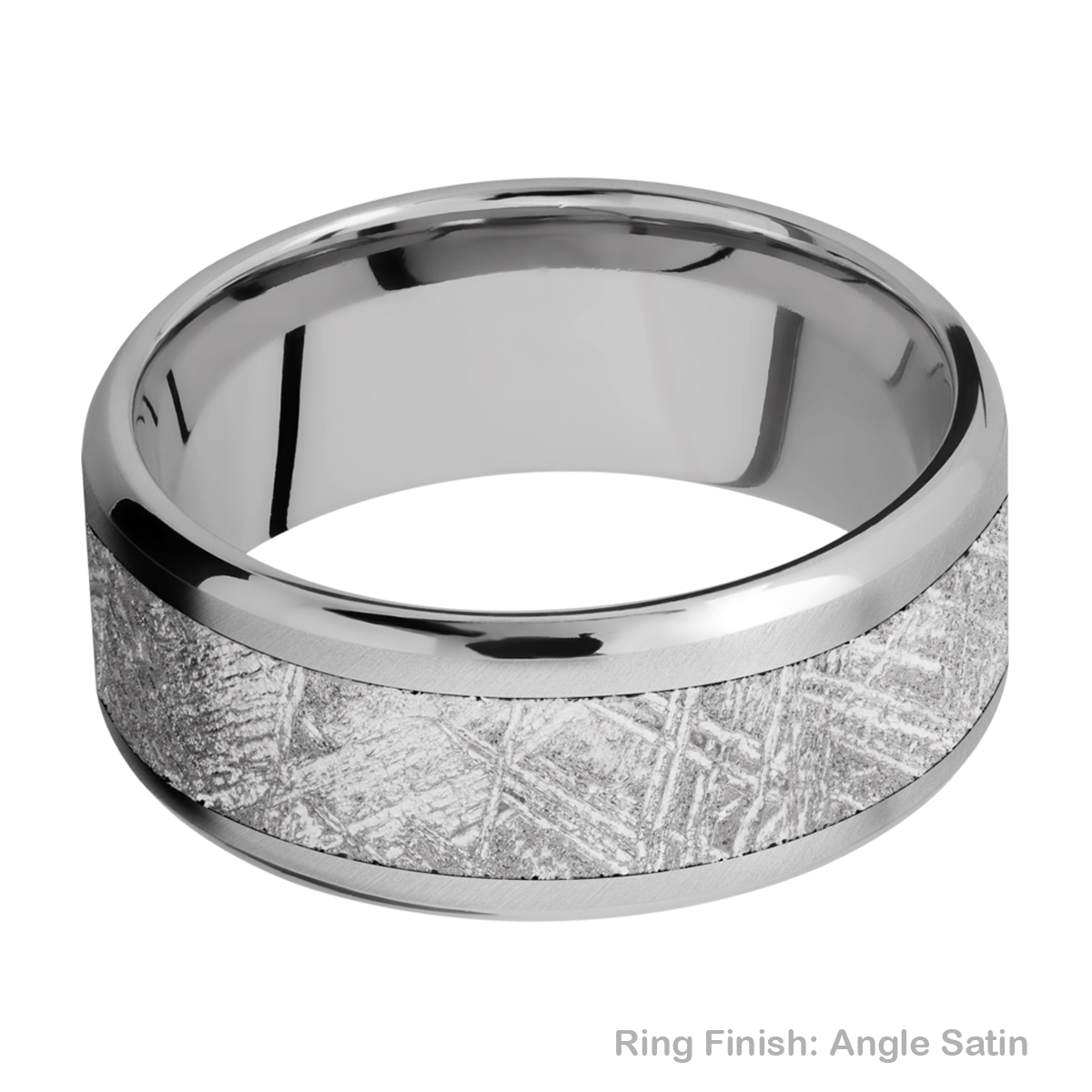 Lashbrook 9B16(NS)/METEORITE Titanium Wedding Ring or Band Alternative View 6